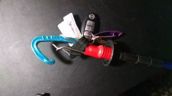 Superclip with carabiner clipped in